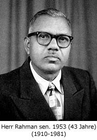 Rahman sen. im Jahre 1953